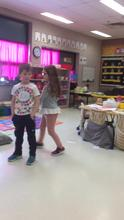 Charleigh's group acting out a new sound book!